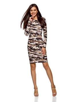oodji Ultra Damen Enges Jersey-Kleid, Braun, DE 36 / EU 38 / S - 1