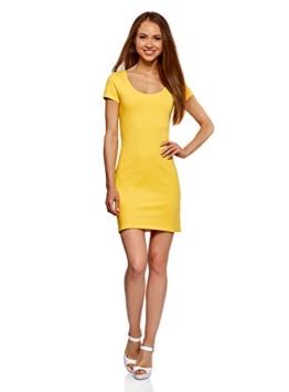 oodji Ultra Damen Enges Jersey-Kleid, Gelb, DE 38 / EU 40 / M - 1