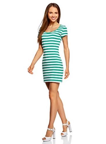 oodji Ultra Damen Enges Jersey-Kleid, Grün, DE 40 / EU 42 / L - 5