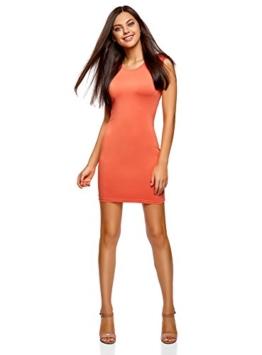 oodji Ultra Damen Enges Jersey-Kleid, Orange, DE 34 / EU 36 / XS - 1