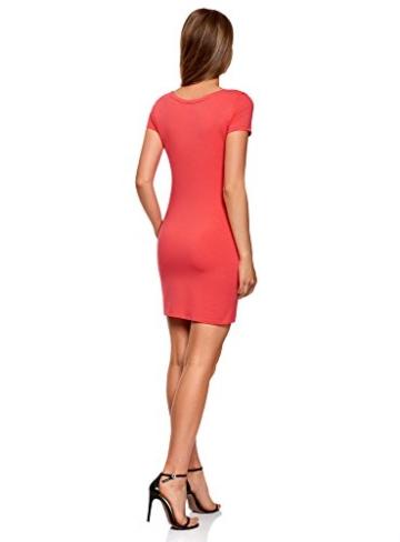 oodji Ultra Damen Enges Jersey-Kleid, Rosa, DE 32 / EU 34 / XXS - 2