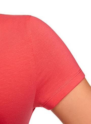 oodji Ultra Damen Enges Jersey-Kleid, Rosa, DE 32 / EU 34 / XXS - 4