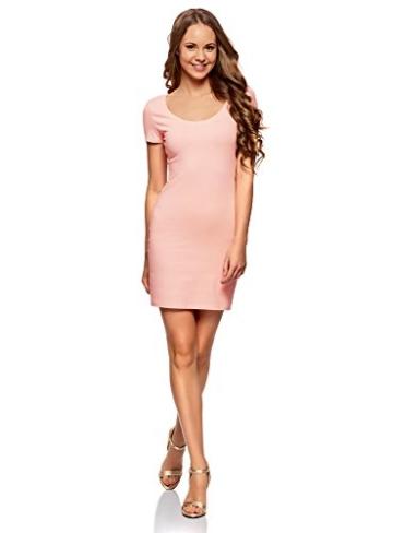 oodji Ultra Damen Enges Jersey-Kleid, Rosa, DE 36 / EU 38 / S - 1