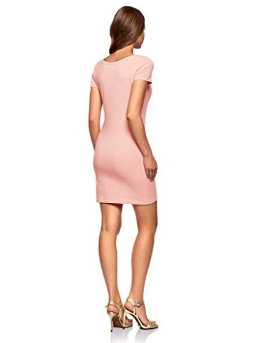 oodji Ultra Damen Enges Jersey-Kleid, Rosa, DE 38 / EU 40 / M - 2