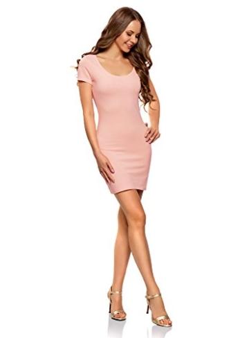 oodji Ultra Damen Enges Jersey-Kleid, Rosa, DE 38 / EU 40 / M - 5