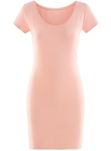 oodji Ultra Damen Enges Jersey-Kleid, Rosa, DE 38 / EU 40 / M - 6