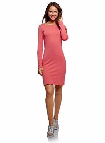 oodji Ultra Damen Enges Jersey-Kleid, Rosa, DE 42 / EU 44 / XL - 1
