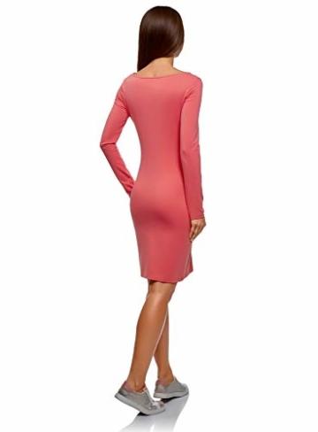 oodji Ultra Damen Enges Jersey-Kleid, Rosa, DE 42 / EU 44 / XL - 2