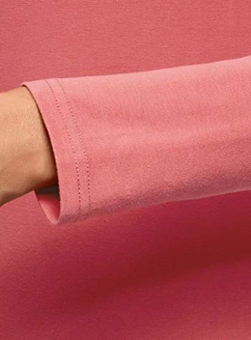 oodji Ultra Damen Enges Jersey-Kleid, Rosa, DE 42 / EU 44 / XL - 4
