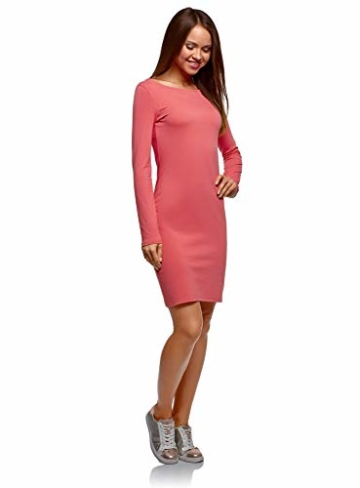 oodji Ultra Damen Enges Jersey-Kleid, Rosa, DE 42 / EU 44 / XL - 5