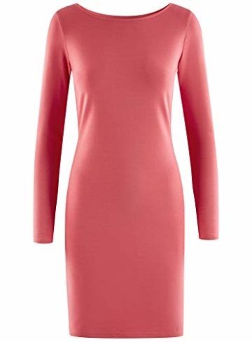 oodji Ultra Damen Enges Jersey-Kleid, Rosa, DE 42 / EU 44 / XL - 6
