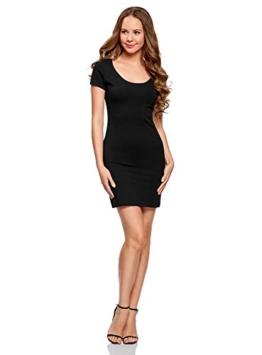 oodji Ultra Damen Enges Jersey-Kleid, Schwarz, DE 44 / EU 46 / XXL - 1