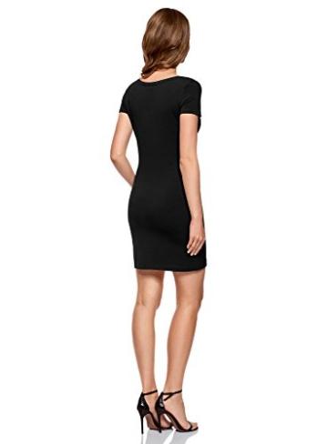 oodji Ultra Damen Enges Jersey-Kleid, Schwarz, DE 44 / EU 46 / XXL - 2