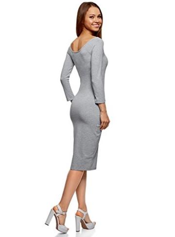 oodji Ultra Damen Enges Kleid mit U-Boot-Ausschnitt, Grau, DE 40 / EU 42 / L - 2