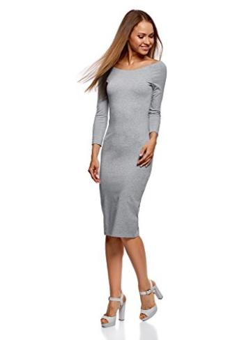 oodji Ultra Damen Enges Kleid mit U-Boot-Ausschnitt, Grau, DE 40 / EU 42 / L - 5