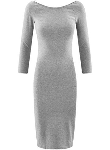 oodji Ultra Damen Enges Kleid mit U-Boot-Ausschnitt, Grau, DE 40 / EU 42 / L - 6