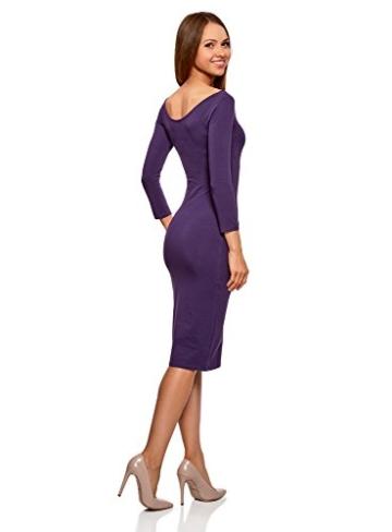 oodji Ultra Damen Enges Kleid mit U-Boot-Ausschnitt, Violett, DE 40 / EU 42 / L - 2