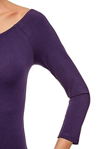 oodji Ultra Damen Enges Kleid mit U-Boot-Ausschnitt, Violett, DE 40 / EU 42 / L - 4