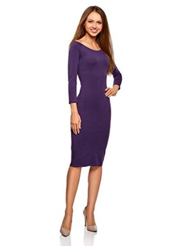oodji Ultra Damen Enges Kleid mit U-Boot-Ausschnitt, Violett, DE 40 / EU 42 / L - 5