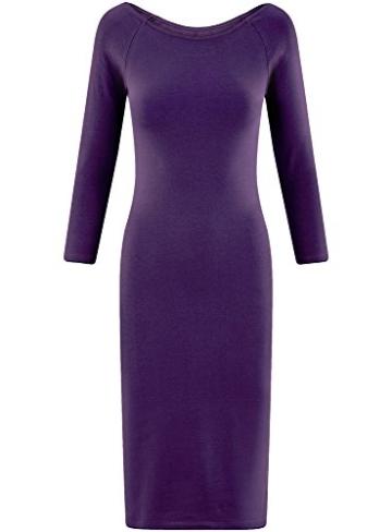 oodji Ultra Damen Enges Kleid mit U-Boot-Ausschnitt, Violett, DE 40 / EU 42 / L - 6