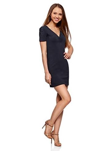 oodji Ultra Damen Enges Kleid mit V-Ausschnitt, Blau, DE 36 / EU 38 / S - 5