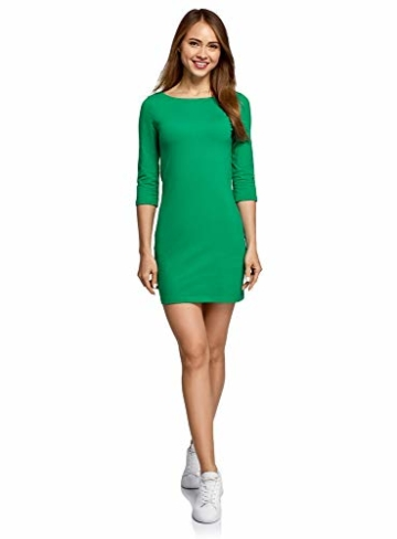 oodji Ultra Damen Jersey-Kleid Basic Grün 1