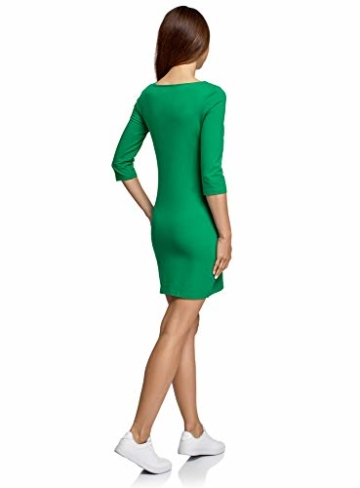 oodji Ultra Damen Jersey-Kleid Basic Grün 2