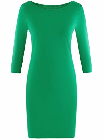 oodji Ultra Damen Jersey-Kleid Basic Grün 5