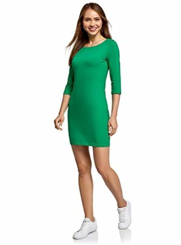 oodji Ultra Damen Jersey-Kleid Basic Grün 6