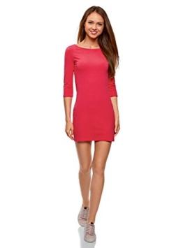 oodji Ultra Damen Jersey-Kleid Basic, Rosa, DE 32 / EU 34 / XXS - 1