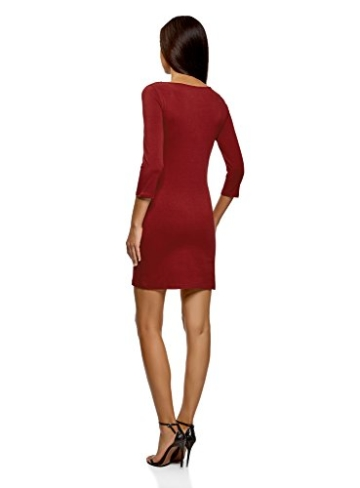 oodji Ultra Damen Jersey-Kleid Basic, Rot, DE 42 / EU 44 / XL - 2