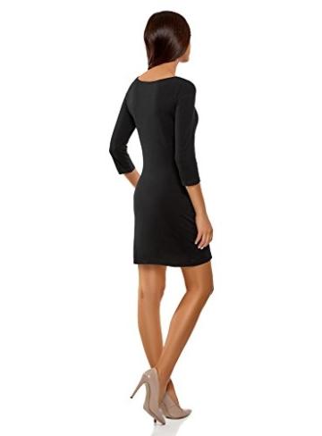 oodji Ultra Damen Jersey-Kleid Basic, Schwarz, DE 40 / EU 42 / L - 2