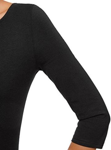 oodji Ultra Damen Jersey-Kleid Basic, Schwarz, DE 40 / EU 42 / L - 4