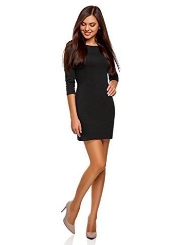 oodji Ultra Damen Jersey-Kleid Basic, Schwarz, DE 40 / EU 42 / L - 5