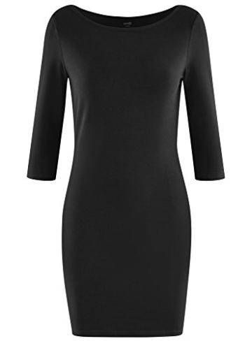 oodji Ultra Damen Jersey-Kleid Basic, Schwarz, DE 40 / EU 42 / L - 6