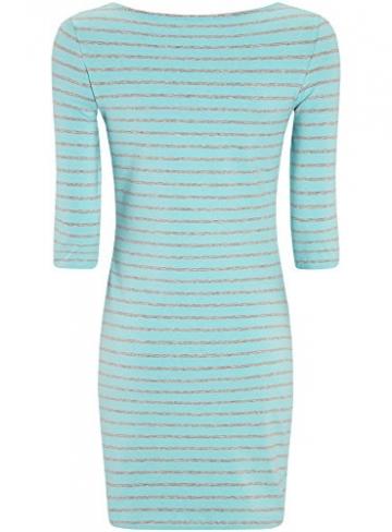oodji Ultra Damen Jersey-Kleid mit Pailletten-Verzierung, Türkis, DE 40 / EU 42 / L -