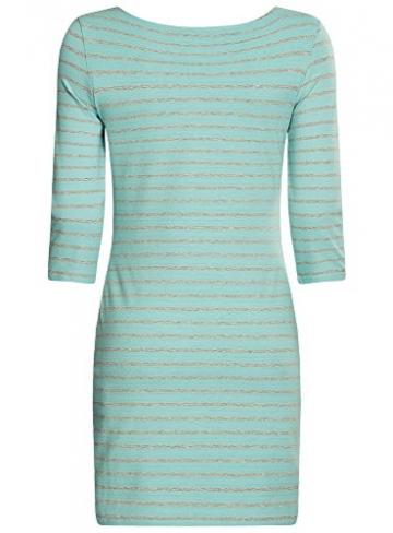 oodji Ultra Damen Kleid mit Flügelherz-Applikation, Türkis, DE 38 / EU 40 / M -