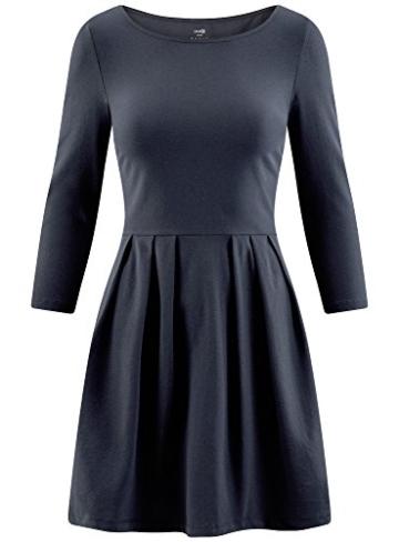 oodji Ultra Damen Tailliertes Jersey-Kleid, Blau, DE 32 / EU 34 / XXS - 6