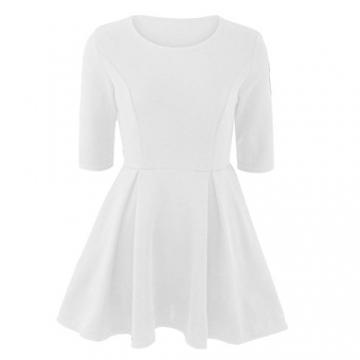 Oyedens Damen Neuen FrüHling Modisch Schlank Bandage Cocktail Rock Kleider (XS, Weiß) -