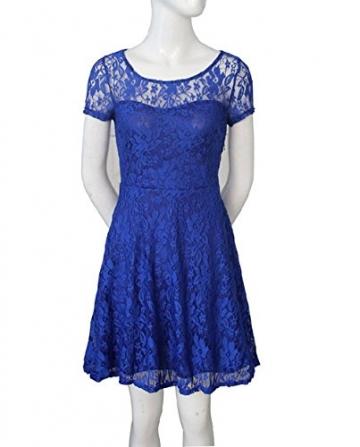 Kleid blau kurz mit spitze