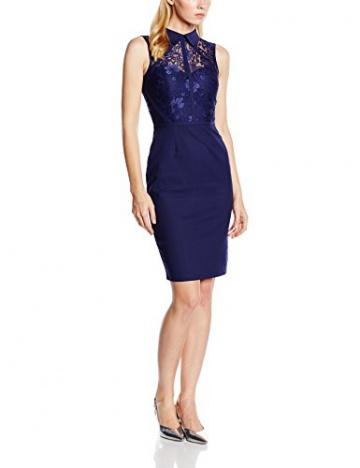 Paper Dolls Damen Kleid Gr. 36, Blau - Blau (Marineblau) - 1