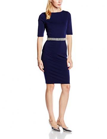 Paper Dolls Damen Kleid Gr. 40, Blau - Blau (Marineblau) - 1