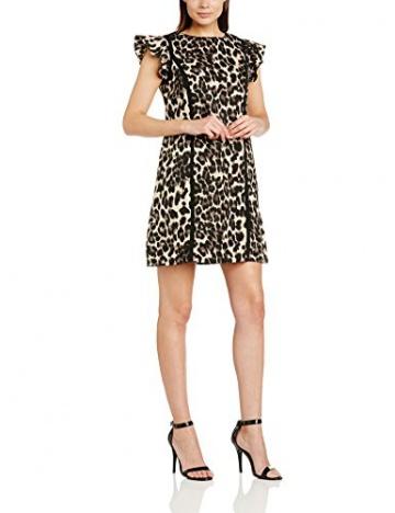Paper Dolls Damen TUnika Kleid, Gr. 36, mehrfarbig(Leopardenmuster) - 1