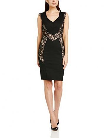 PaperDolls Damen Schlauch Kleid Lace Fitted, Knielang, Gr. 34 (Herstellergröße: Size 8), Schwarz (Black/Nude) - 1