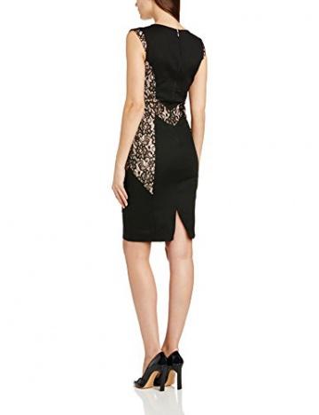 PaperDolls Damen Schlauch Kleid Lace Fitted, Knielang, Gr. 34 (Herstellergröße: Size 8), Schwarz (Black/Nude) - 2