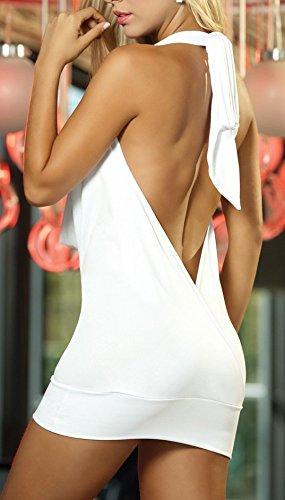 Paplan Damen Deep V Halter-Wäsche-Rock Backless Hip-huggers - 2