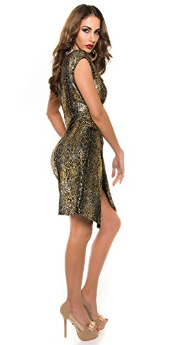 Party Wickel-Kleid mit Reptilprint by In-Stylefashion schwarz -