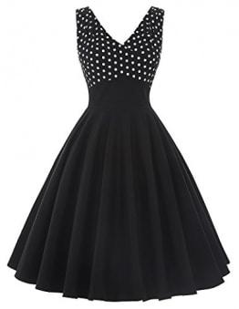 Partykleid 1950er Style Cocktailkleider Schwarz Kleid Sommer Kleid XL BP093-1 -