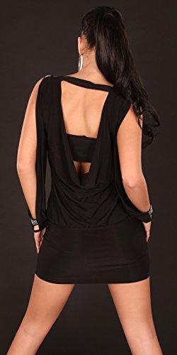 Partykleid mit offenen Ärmeln und rückenfrei by In-Stylefashion schwarz -
