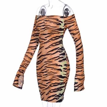 Langarm Partykleid Tiger-Look -3